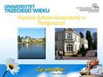 Wyzsza Szkola Gospodarki w Bydgoszczy