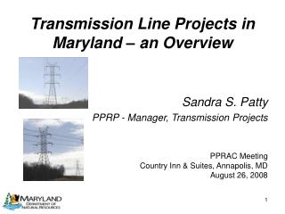 Transmission Line Projects in Maryland � an Overview