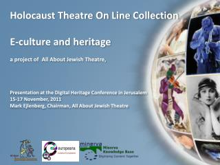 Holocaust Theatre On Line Collection  E-culture and heritage