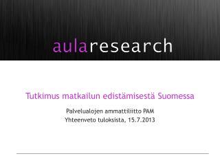 T utkimus matkailun edistämisestä Suomessa