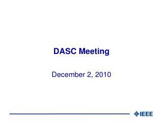 DASC Meeting