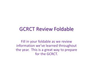 GCRCT Review Foldable