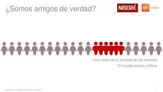 Una visión de la amistad de los chilenos El mundo online y offline