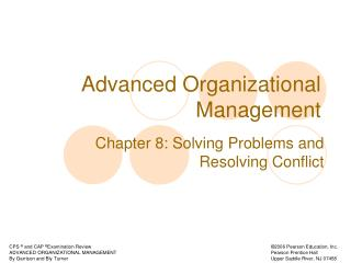 Advanced Organizational Management