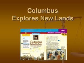Columbus Explores New Lands