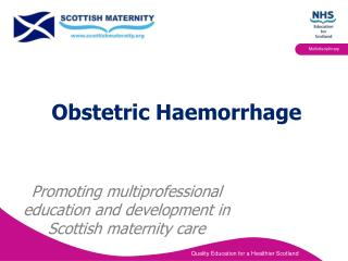 Obstetric Haemorrhage