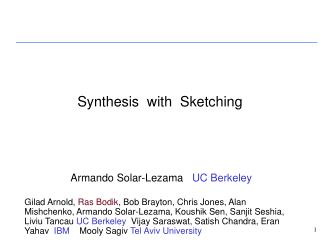 Synthesis  with  Sketching