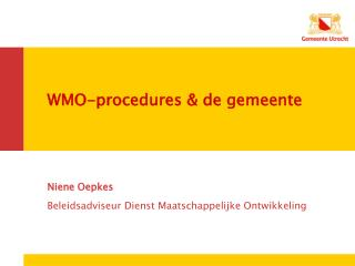 WMO-procedures & de gemeente