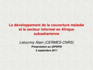 Le développement de la couverture maladie et le secteur informel en Afrique subsaharienne