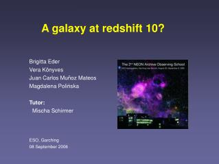A galaxy at redshift 10?