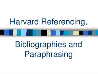 Harvard Referencing,