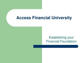 Access Financial University