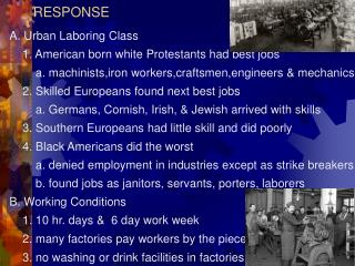 IX. LABOR, WORKING CONDITIONS & RESPONSE
