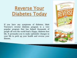 Reverse Your Diabetes Today Review