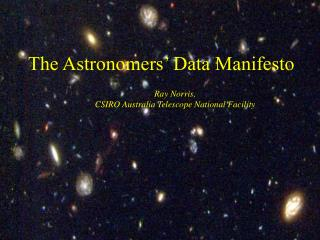 The Astronomers  Data Manifesto