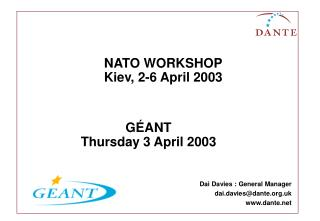 NATO WORKSHOP Kiev, 2-6 April 2003