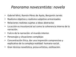 Panorama novecentista: novela