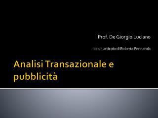 Analisi Transazionale e pubblicità