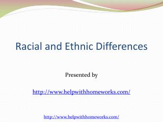 Racial and Ethnic Differences