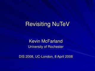 Revisiting NuTeV