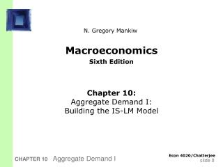 Macroeconomics Sixth Edition
