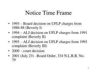 Notice Time Frame