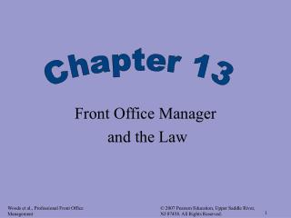 Front Office Manager  and the Law