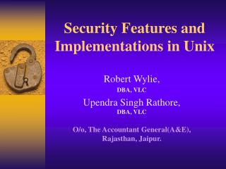 Security Features and Implementations in Unix