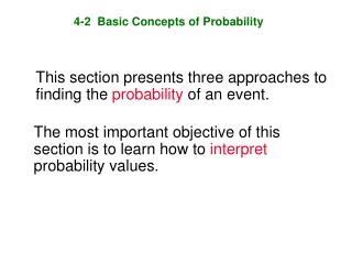 4-2  Basic Concepts of Probability