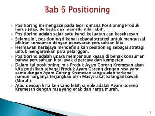 Bab  6 Positioning