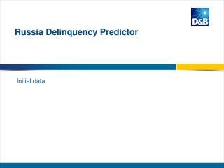 Russia  Delinquency Predictor