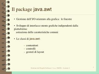 Il package  java.awt