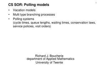 CS SOR: Polling models