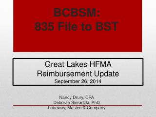 BCBSM: 835 File to BST