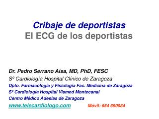 Cribaje de deportistas El ECG delos deportistas