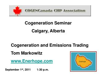 Cogeneration and Emissions Trading Tom Markowitz Enerhope