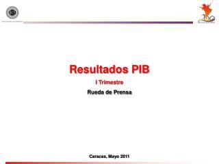 Resultados PIB I Trimestre Rueda de Prensa