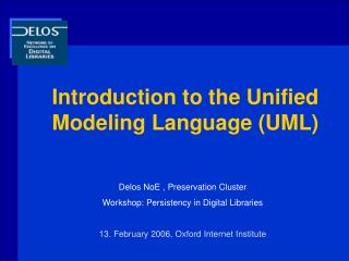 Introduction to the Unified Modeling Language (UML)