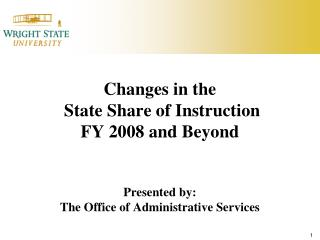State Share of Instruction (SSI)  Prior to FY 2010