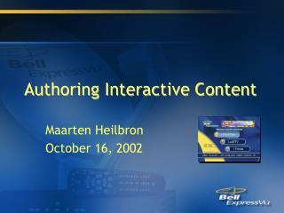 Authoring Interactive Content
