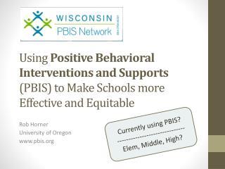Rob Horner University of Oregon pbis