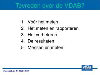 Tevreden over de VDAB?