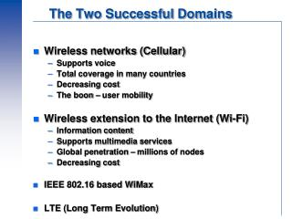 The Two Successful Domains