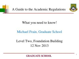 A Guide to the Academic Regulations