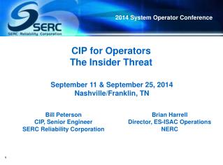 CIP for Operators The Insider Threat