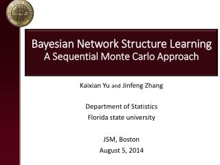 Bayesian Network Structure Learning  A Sequential Monte Carlo Approach