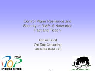 Control Plane Resilience and Security in GMPLS Networks: Fact and Fiction