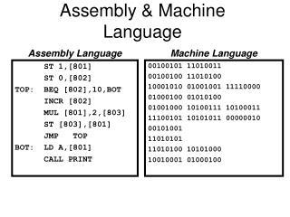 Assembly & Machine Language