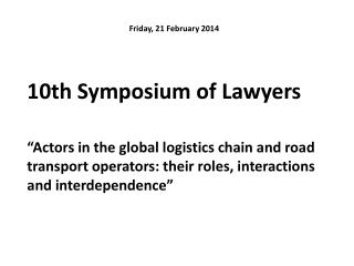 10th Symposium of Lawyers