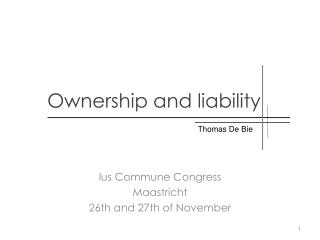 Ownership  and  liability